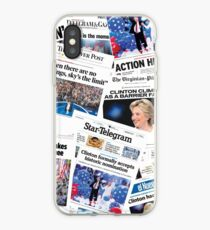 Hillary Clinton Nomination Historic Newspapers iPhone Case