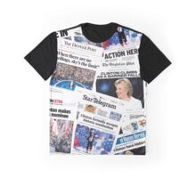 Hillary Clinton Nomination Historic Newspapers Graphic T-Shirt