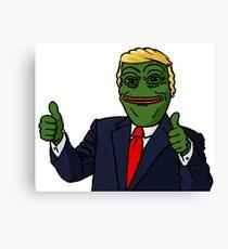 Trump Pepe Canvas Print