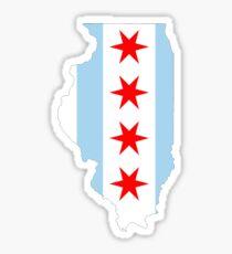 Pegatina Bandera de Chicago