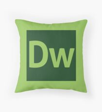 Dreamweaver (Adobe CS) Throw Pillow Throw Pillow