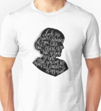 Virginia Woolf Quote and Silloette  T-Shirt