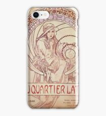 Alphonse Mucha - Rau Quartier Latin iPhone Case/Skin