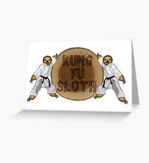 Kung Fu Sloth! Greeting Card