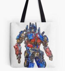 Transformers Optimus Prime Or Orion Pax Colored Pencil Tote Bag