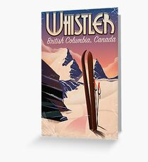 Whistler,Vancouver, British Columbia Ski poster  Greeting Card