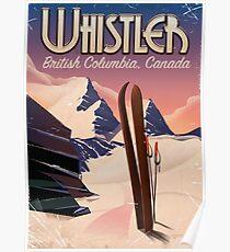Whistler, Vancouver, Britisch-Kolumbien Ski Poster Poster