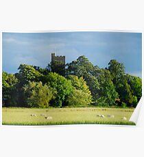 English country landscape in Felmersham Bedfordshire England UK Poster