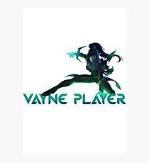 Vayne Player Photographic Print