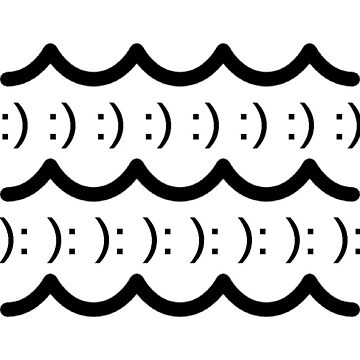 sad & happy wave graphics by radclothing
