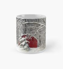 Red Barn in the Snow Mug