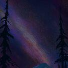 Shasta Glamping under night sky by SFDesignstudio