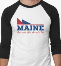 Maine the way life should be Men's Baseball ¾ T-Shirt