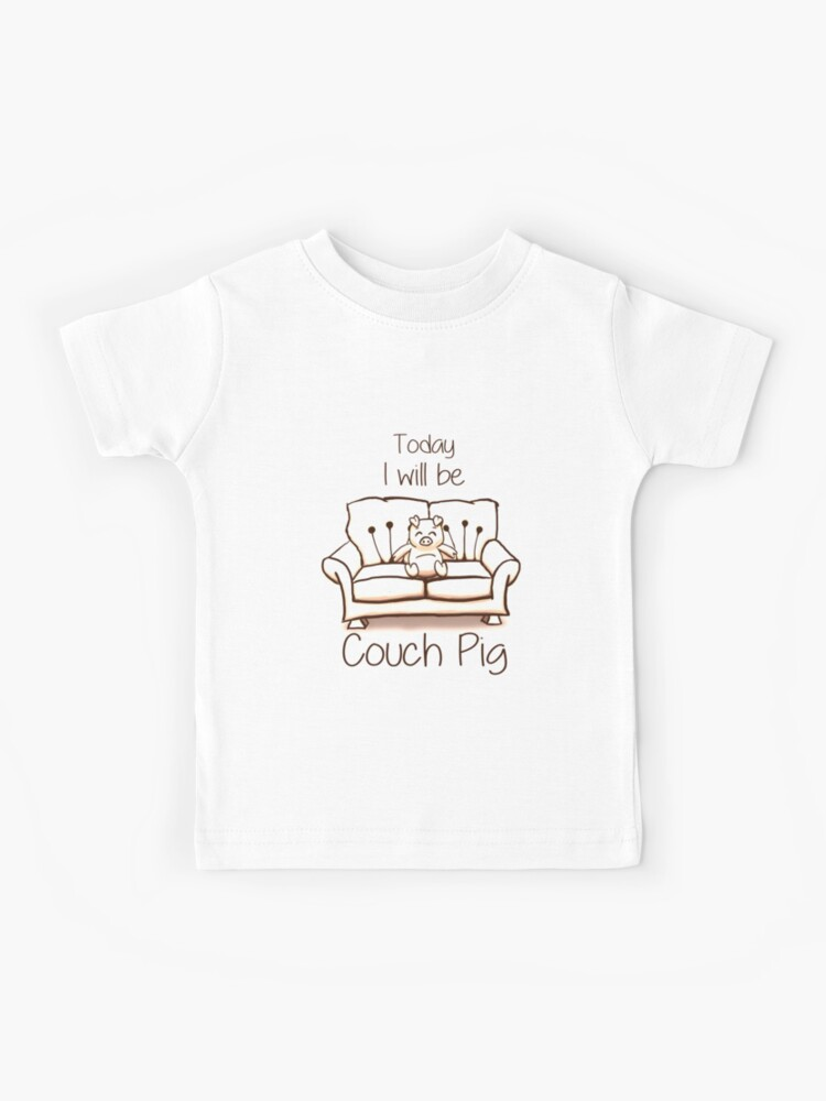 Wondrous Couch Pig Monochrome Kids T Shirt Caraccident5 Cool Chair Designs And Ideas Caraccident5Info