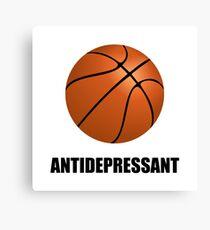 Antidepressant Basketball Canvas Print