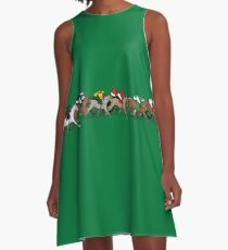 The Horse Race A-Line Dress