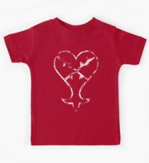 Kingdom Hearts Heartless grunge Kids Tee