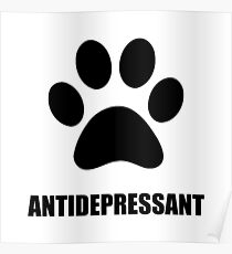 Antidepressant Pet Poster