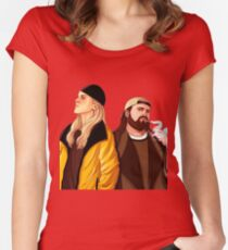 Jay and Silent Bob Women's Fitted Scoop T-Shirt