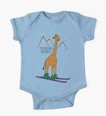 Skiraffe Shirt #giraffewatch  One Piece - Short Sleeve