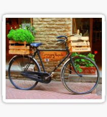 Old bicycle in Tuscany Sticker