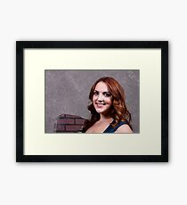 Woman Red Hair Framed Print