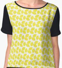 Lemon Pattern Design Chiffon Top