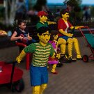 Hanging out with a Lego Family by Yukondick
