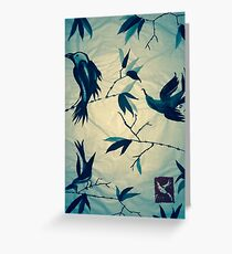 Sumi-e Forest Birds Greeting Card