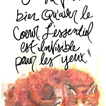 The Little Prince Quote, Fox by TandJart