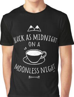 Black as Midnight Graphic T-Shirt