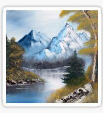 Blaue Berge Sticker