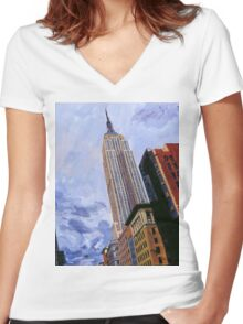 ESB, NYC Women's Fitted V-Neck T-Shirt