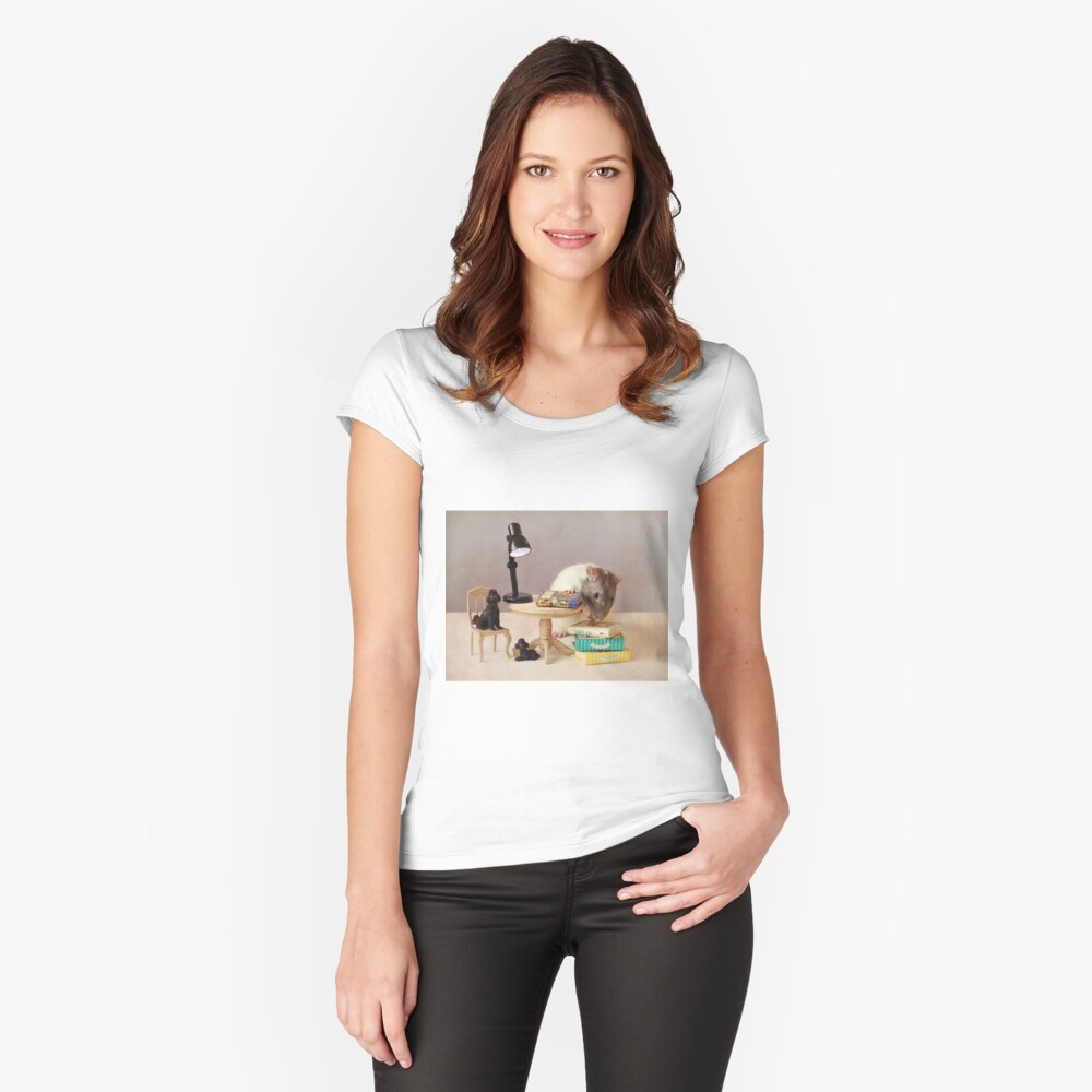 Which book shall I read now? Fitted Scoop T-Shirt