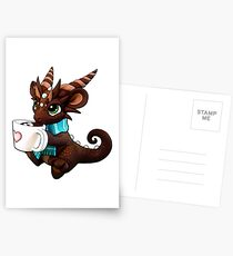 Hot Cocoa Dragon Postcards