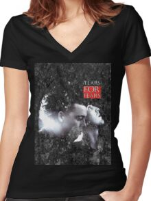 Tears For Fears Women's Fitted V-Neck T-Shirt