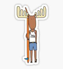 hang moose surfer dude Sticker