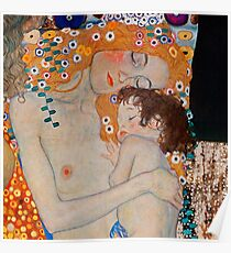 Gustav Klimt, mother and child,reproduction,art nouveau,great art from vintage painters Poster