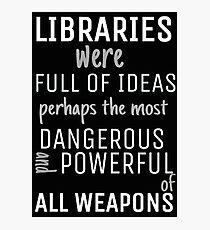 Libraries Photographic Print
