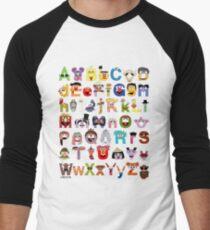 Sesame Street Alphabet Men's Baseball ¾ T-Shirt