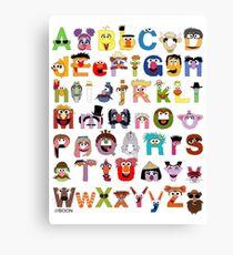 Sesame Street Alphabet Canvas Print