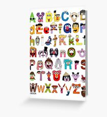 Sesame Street Alphabet Greeting Card