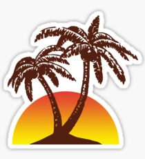 Palm and Sun Sticker