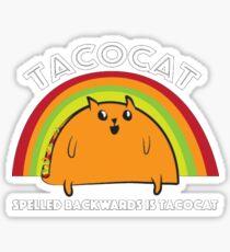 Tacocat spelled backwards is Tacocat Sticker
