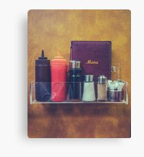Retro Hipster Diner Detail Canvas Print