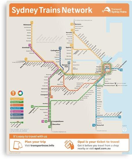 Sydney Train Map\