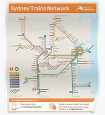 Sydney Train Map Poster