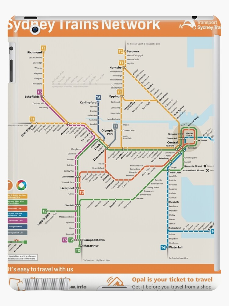\'Sydney Train Map\' iPad Case/Skin by nemckinney
