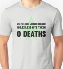 Legalize Weed Cool Funny Smoking Joint Stats T-Shirt