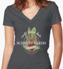 Schrute Farms - The office Women's Fitted V-Neck T-Shirt
